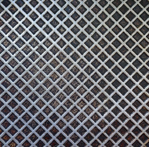 Texture di sfondo di padella in metallo per friggere