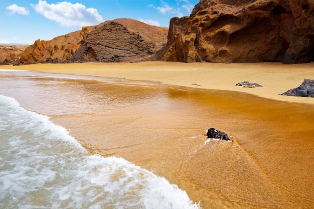 Spiaggia di fuerteventura la pared alle isole canarie