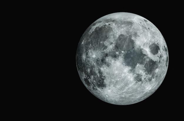 Luna piena bella trama della luna Foto Premium
