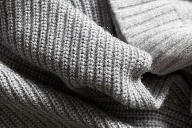 Una pagina intera di struttura della superficie del tessuto di maglieria grigio navy
