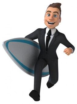 Divertente navigazione dei personaggi aziendali in 3d