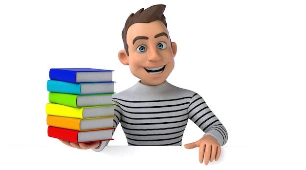 Divertente personaggio casuale dei cartoni animati in 3d