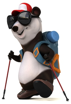 Divertente personaggio dei cartoni animati 3d panda zaino in spalla