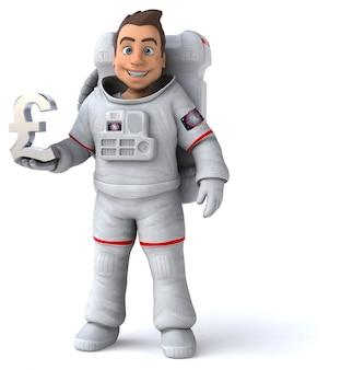 Divertimento astronauta - illustrazione 3d