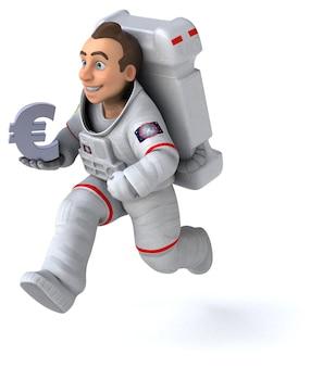 Divertimento astronauta 3d'illustrazione