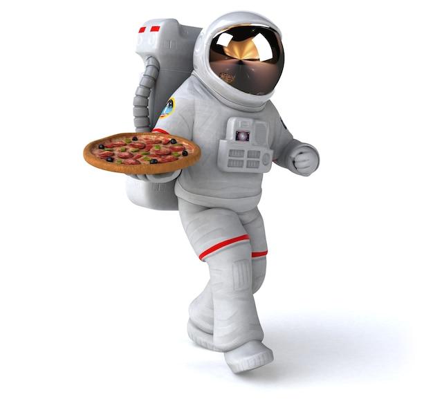 Astronauta divertente - rendering 3d