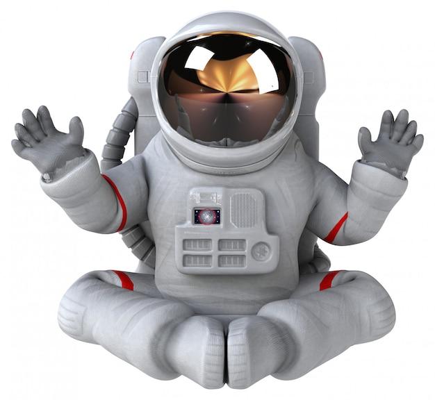 Divertente animazione da astronauta
