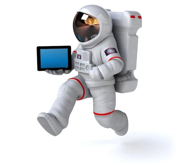 Illustrazione divertente dell'astronauta