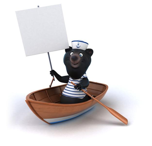Illustrazione di orso divertente