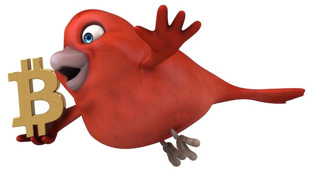 Uccello divertente - illustrazione 3d