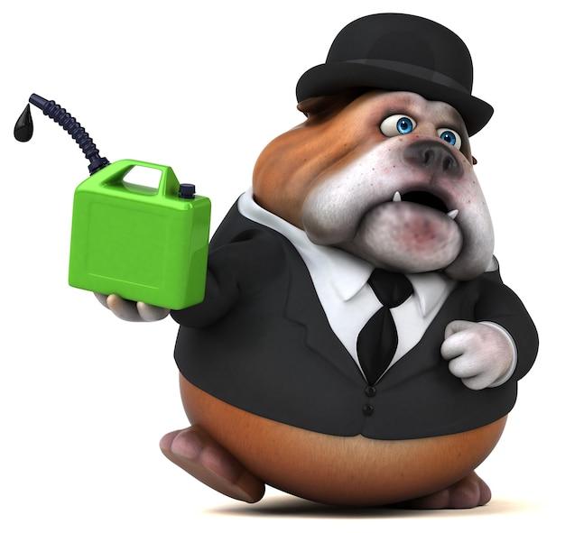 Bulldog divertente - personaggio 3d