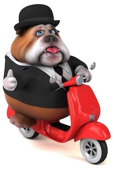 Fun bulldog - illustrazione 3d