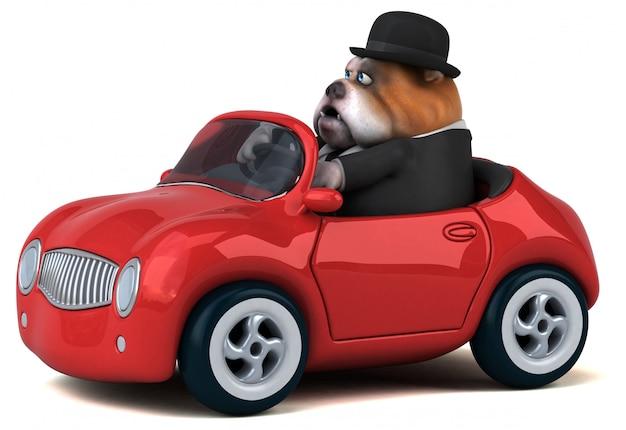 Divertente animazione bulldog