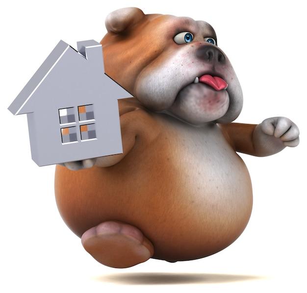 Illustrazione divertente del bulldog