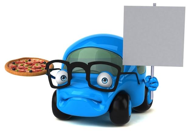 Macchina divertente - personaggio 3d