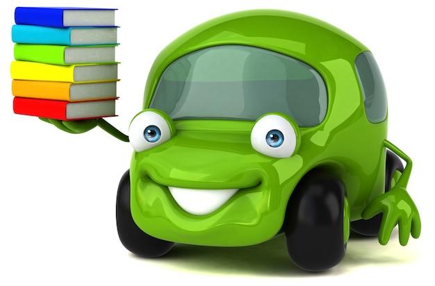 Auto divertente - illustrazione 3d