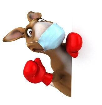 Canguro divertente del fumetto con una maschera