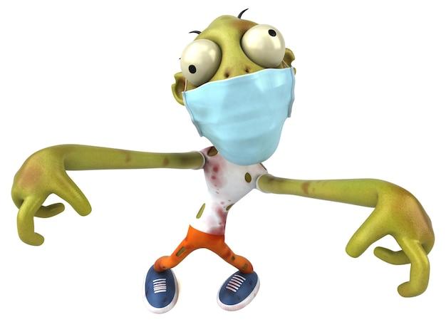Zombie divertente del fumetto con una maschera