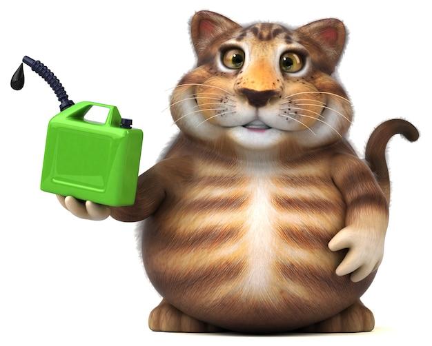 Gatto divertente - personaggio 3dd