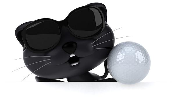 Gatto divertente - illustrazione 3d