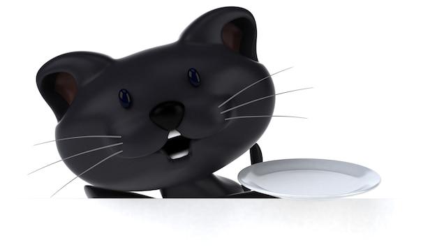 Illustrazione del gatto divertente