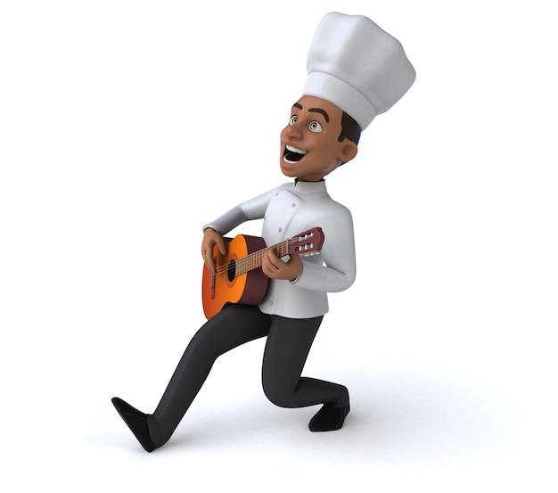 Illustrazione di chef divertente