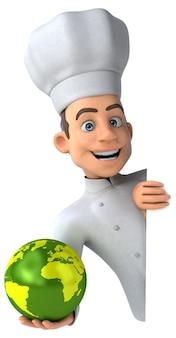 Illustrazione del cuoco unico divertente