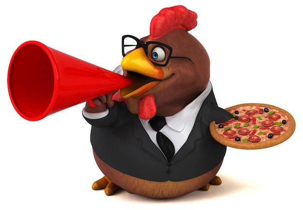 Pollo divertente - personaggio 3d