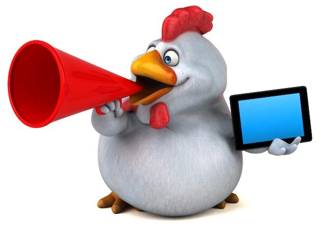 Illustrazione di pollo divertente