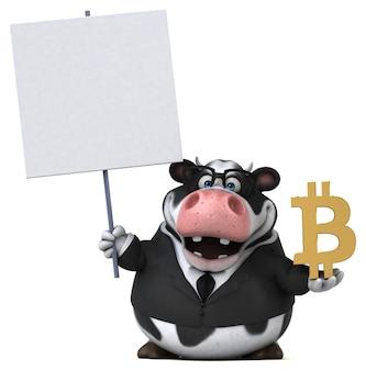 Mucca divertente - personaggio 3d
