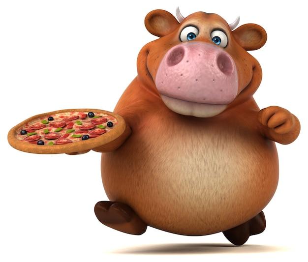 Divertente animazione della mucca