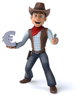 Fun cowboy - illustrazione 3d
