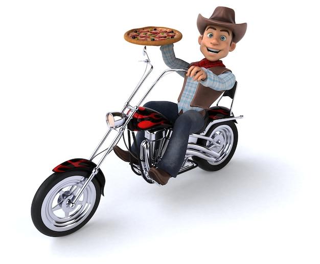 Fun cowboy - illustrazione 3d