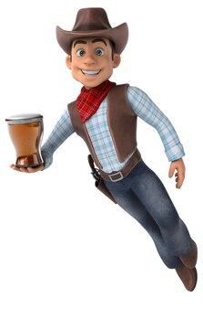 Illustrazione divertente del cowboy