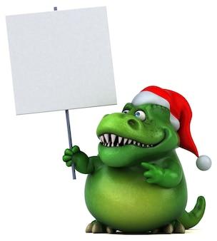 Dinosauro divertente- illustrazione 3d