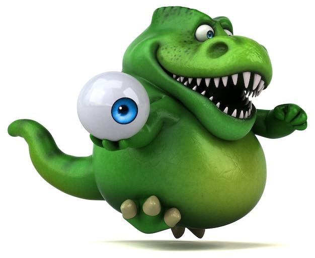 Dinosauro divertente - illustrazione 3d