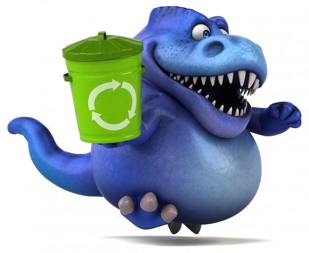 Divertente dinosauro illustrazione 3d