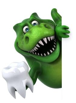 Divertente illustrazione di dinosauro