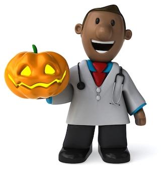 Dottore divertente - illustrazione 3d