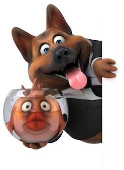 Cane divertente - illustrazione 3d