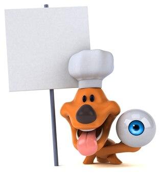 Illustrazione del cane divertente
