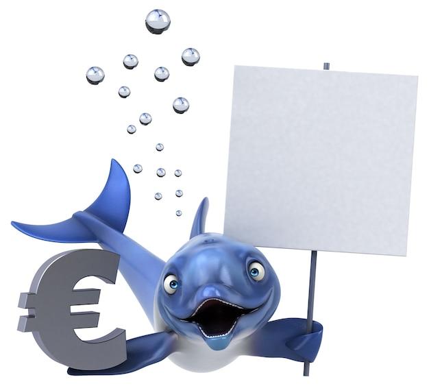 Divertimento delfino - illustrazione 3d