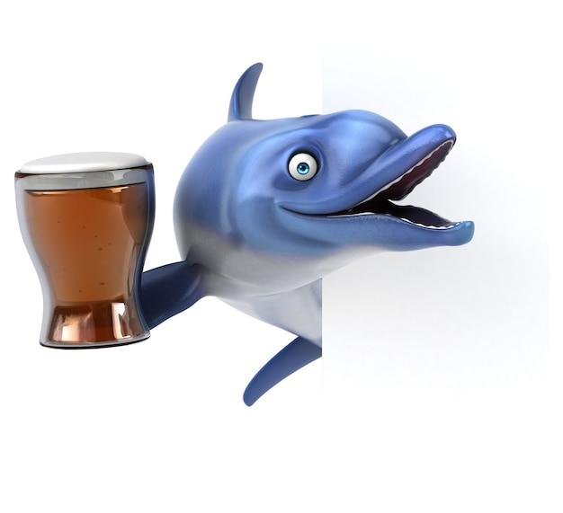 Delfino divertente - 3d illustration
