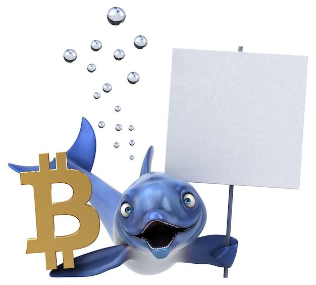 Delfino divertente - illustrazione 3d