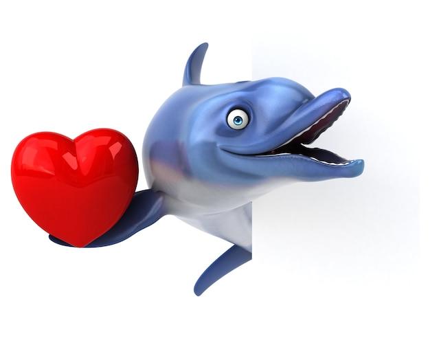 Illustrazione divertente delfino