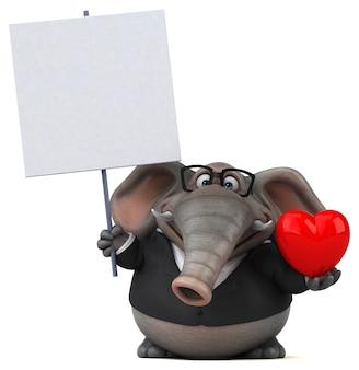 Elefante divertente - illustrazione 3d