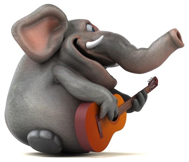 Illustrazione divertente dell'elefante