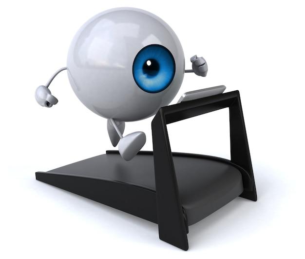 Occhio divertente - personaggio 3d