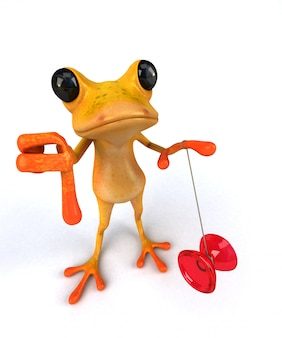 Divertente rana - illustrazione 3d