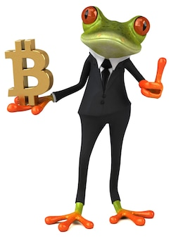 Illustrazione divertente della rana